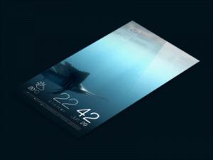 Bron: http://dribbble.com/shots/1136175-Jolla-Sailfish-OS-Redesign-Part-1-The-Lock-Screen